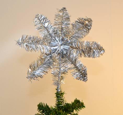 Topstjerne sølv Ø 20 cm