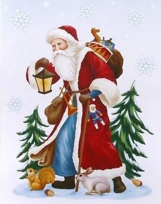 Vindue stickers med den gode gamle julemand